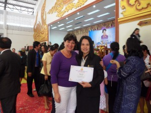 Lamphun and Daphné at Teachers' day