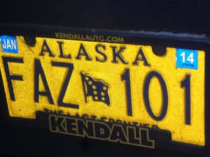 Alaska, the last frontier proclaim their license plates!