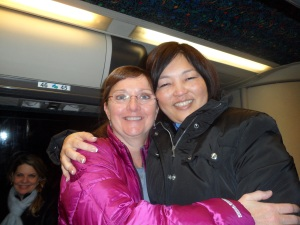 Julie Dodds, Visit Anchorage on the left. together with June Matsumoto, from Hawaii Convention Center