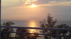 crépuscule sur l'immense estuaire du Saint Laurent