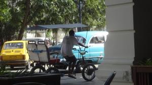américaine et vélotaxi