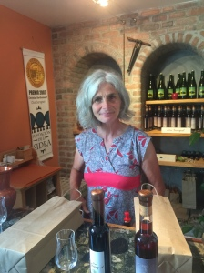 the incredible wife of Christian Barthomeuf, the creator of the Ice Cider Clos Saragnat. So much passion and devotion for such a great taste!